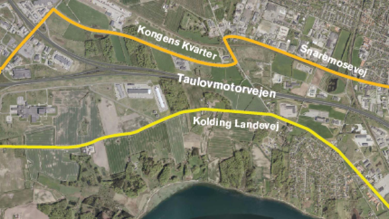 Nu åbner ny tilkørselsrampe ved Fredericia Syd for trafik