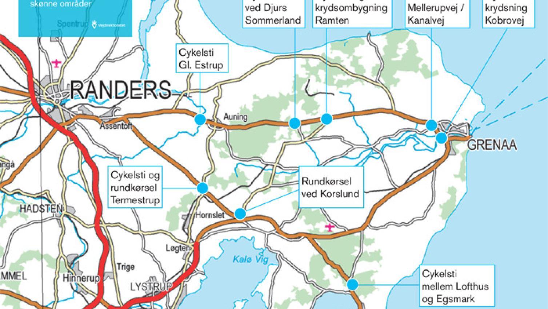 Sikkert Pa Cykel Pa Djursland Vejdirektoratet
